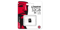32 GB Kingston Micro SDHC memóriakártya + SD adapter, CLASS 4